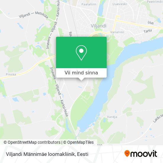 Viljandi Männimäe loomakliinik kaart