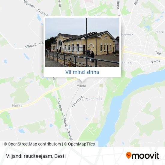 Viljandi raudteejaam kaart