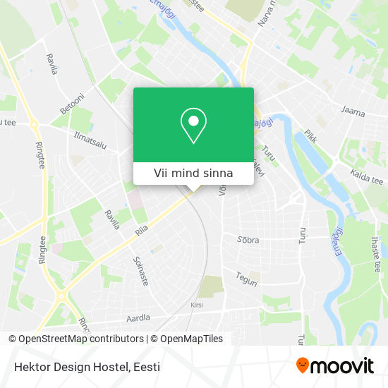 Hektor Design Hostel kaart