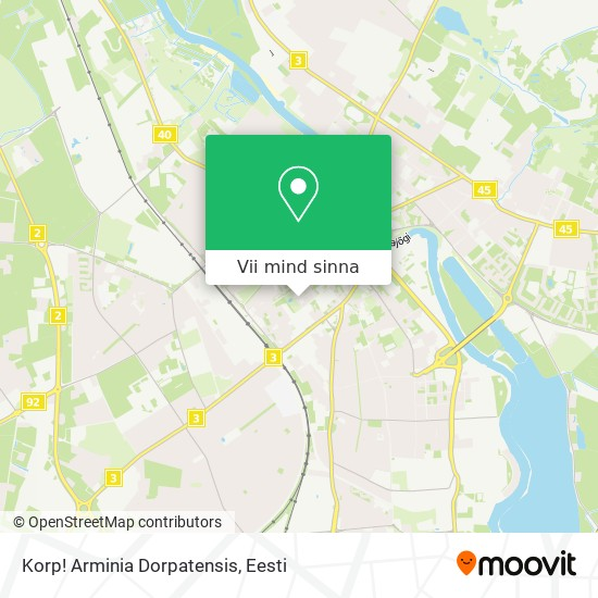 Korp! Arminia Dorpatensis kaart