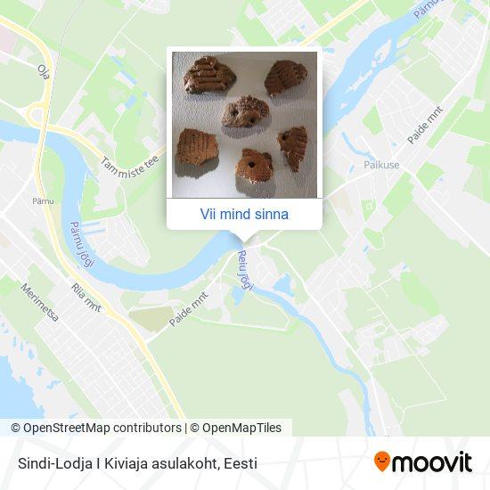 Sindi-Lodja I Kiviaja asulakoht kaart