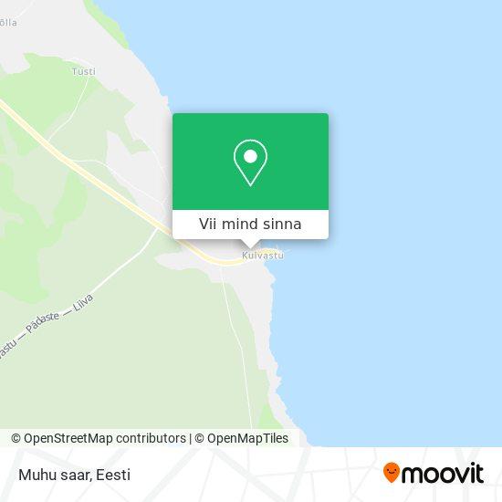 Muhu saar kaart