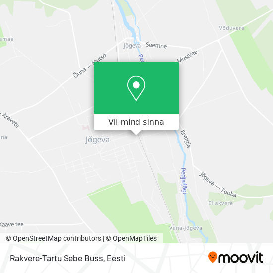 Rakvere-Tartu Sebe Buss kaart