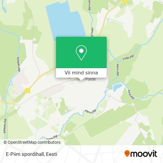 E-Piim spordihall kaart