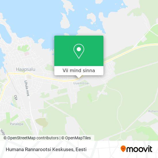 Humana Rannarootsi Keskuses kaart