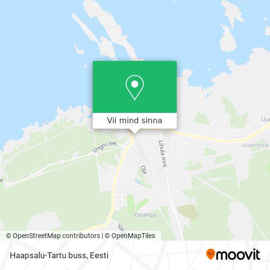 Haapsalu-Tartu buss kaart