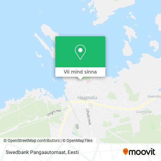 Swedbank Pangaautomaat kaart