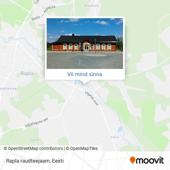 Rapla raudteejaam kaart
