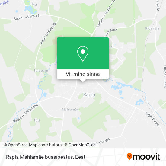 Rapla Mahlamäe bussipeatus kaart