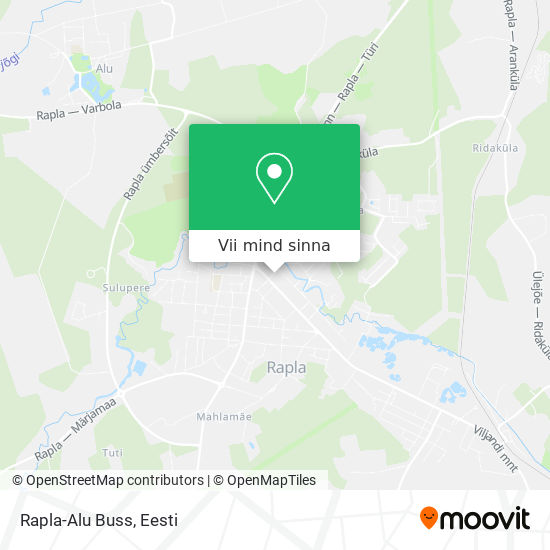 Rapla-Alu Buss kaart