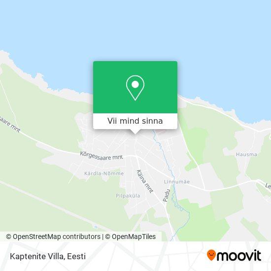 Kaptenite Villa kaart