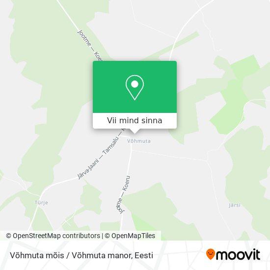 Võhmuta mõis / Võhmuta manor kaart