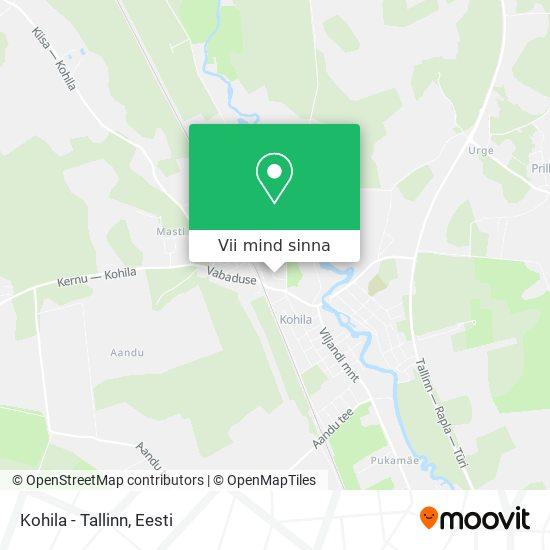 Kohila - Tallinn kaart