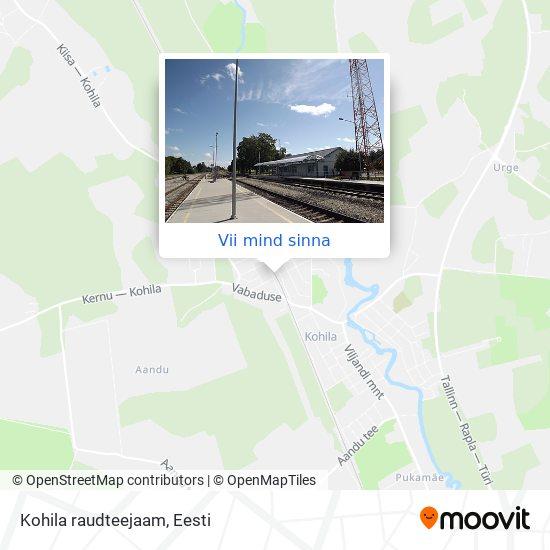 Kohila raudteejaam kaart