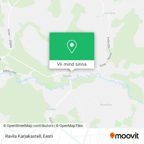 Ravila Karjakastell kaart