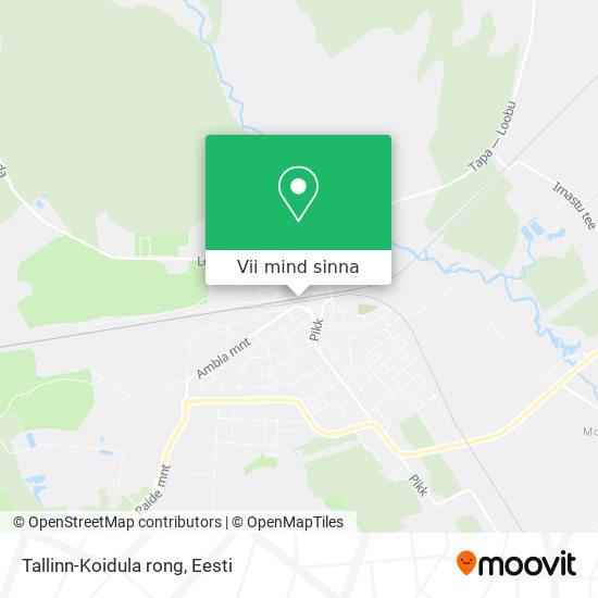 Tallinn-Koidula rong kaart