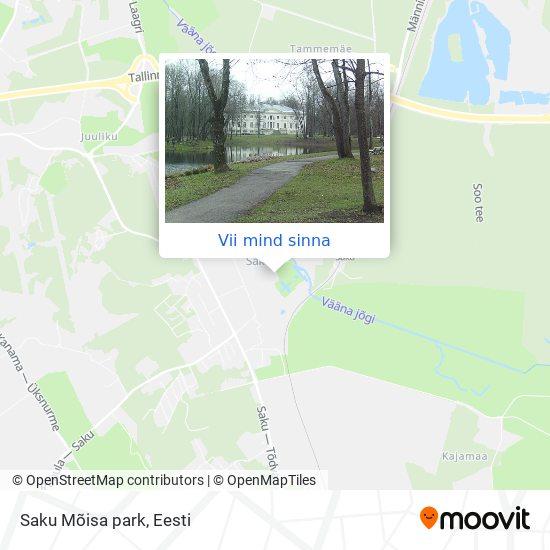 Saku Mõisa park kaart