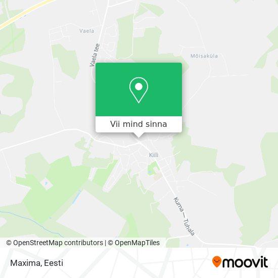 Maxima kaart
