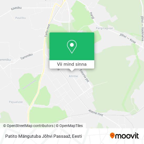 Patito Mängutuba Jõhvi Passaaž kaart
