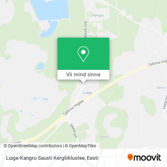 Luige-Kangru-Sausti Kergliiklustee kaart