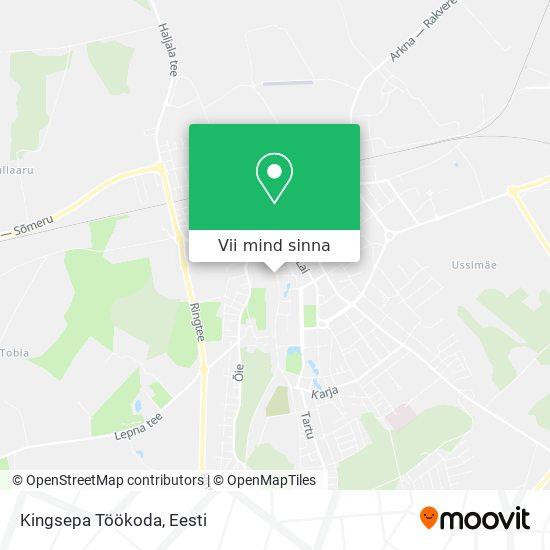 Kingsepa Töökoda kaart