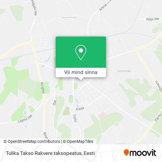 Tulika Takso Rakvere taksopeatus kaart