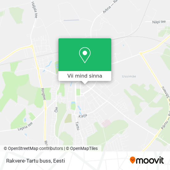 Rakvere-Tartu buss kaart
