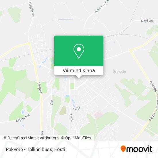 Rakvere - Tallinn buss kaart