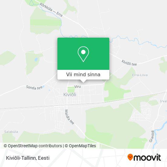 Kiviõli-Tallinn kaart