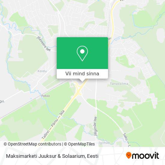 Maksimarketi Juuksur & Solaarium kaart