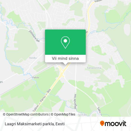 Laagri Maksimarketi parkla kaart
