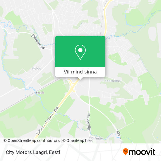 City Motors Laagri kaart