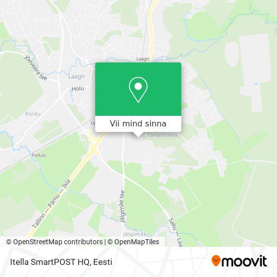 Itella SmartPOST HQ kaart