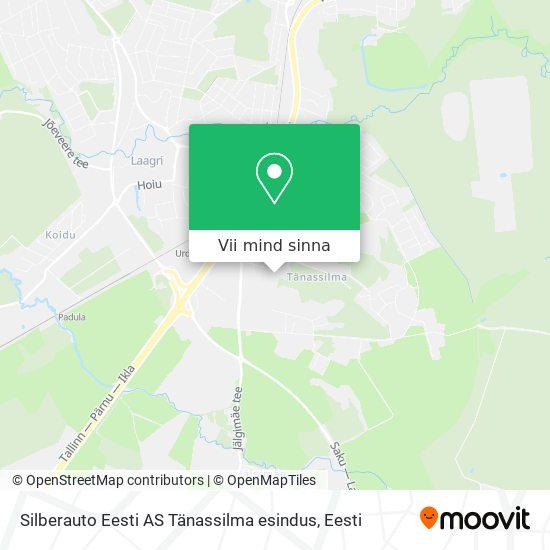Silberauto Eesti AS Tänassilma esindus kaart