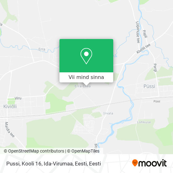 Pussi, Kooli 16, Ida-Virumaa, Eesti kaart