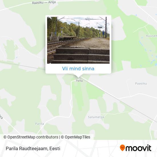 Parila Raudteejaam kaart