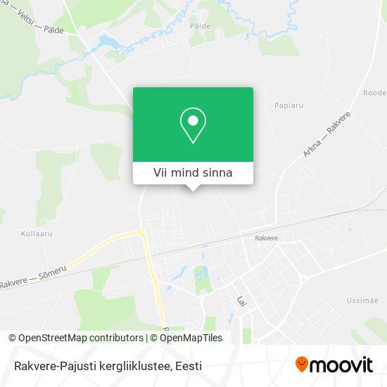 Rakvere-Pajusti kergliiklustee kaart