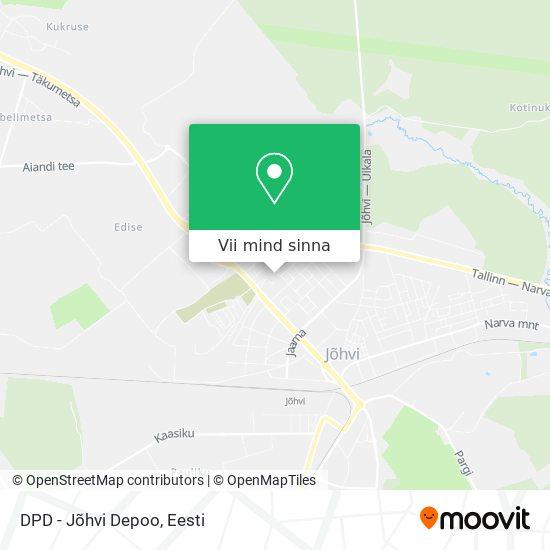 DPD -  Jõhvi Depoo kaart