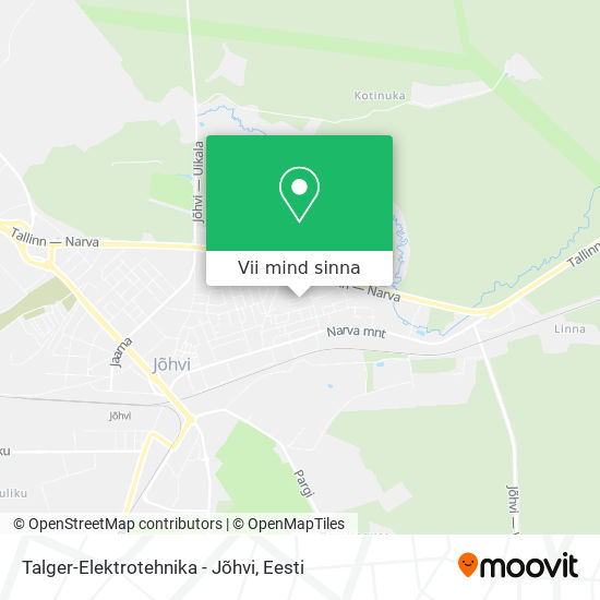 Talger-Elektrotehnika - Jõhvi kaart