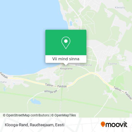 Klooga-Rand, Raudteejaam kaart