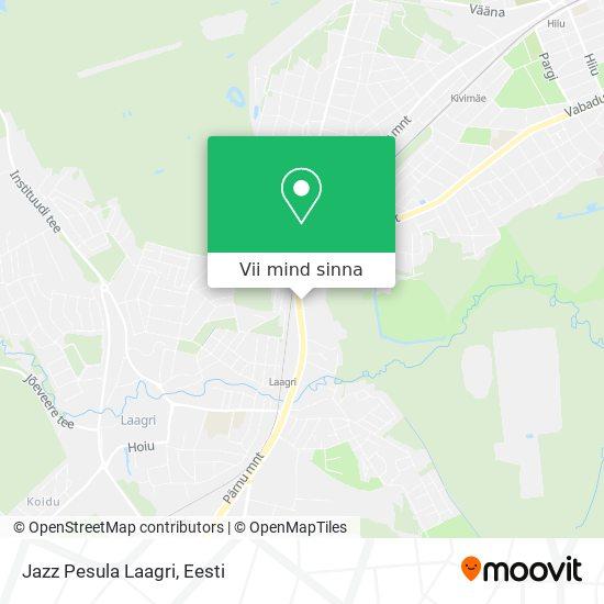 Jazz Pesula Laagri kaart