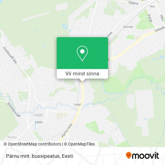 Pärnu mnt. bussipeatus kaart