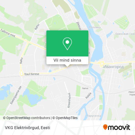 VKG Elektrivõrgud kaart