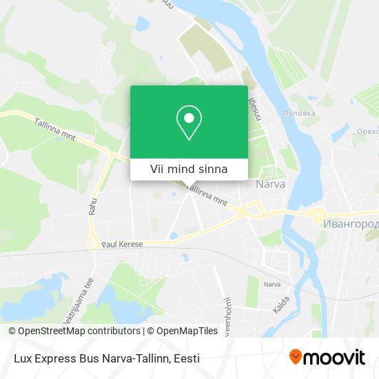 Lux Express Bus Narva-Tallinn kaart