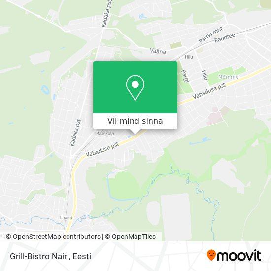 Grill-Bistro Nairi kaart