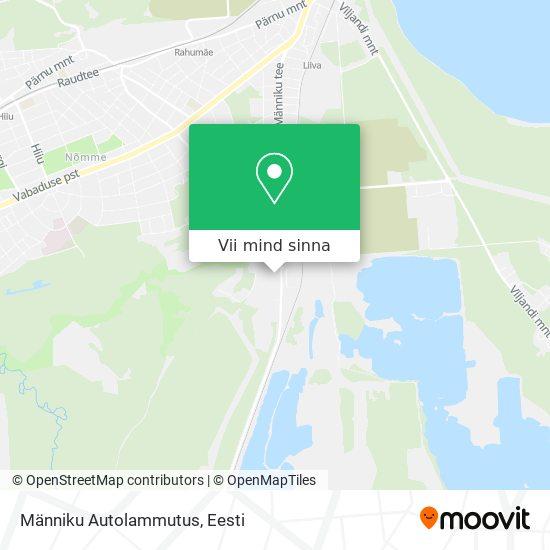 Männiku Autolammutus kaart