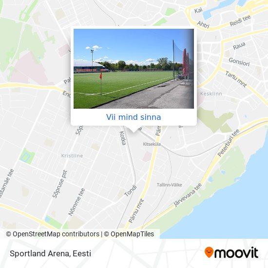 Sportland Arena kaart