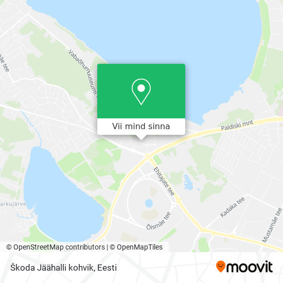 Škoda Jäähalli kohvik kaart