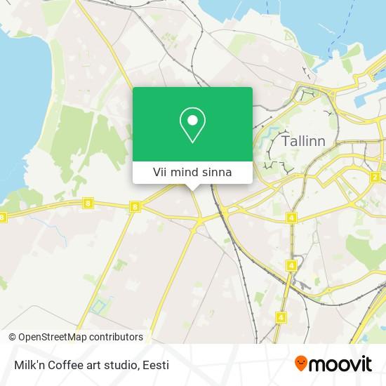 Milk'n Coffee art studio kaart