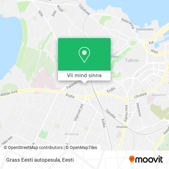 Grass Eesti autopesula kaart